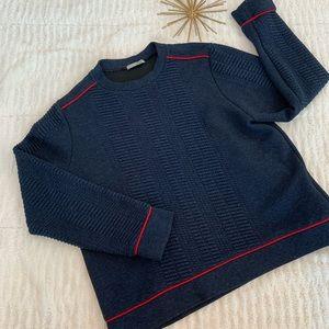 Like New Zara Navy Sweater Size Large